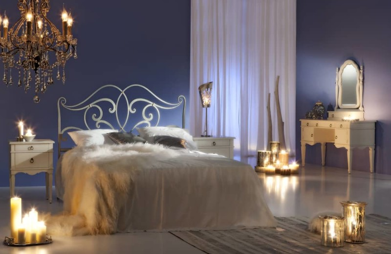 Candlelit Romantic Lovers Bedroom