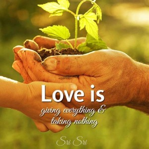 Giving And Sharing In Love